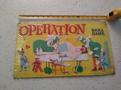 """Merchandise & Memorabilia Reproduction Operation Skill Game Vintage Style Metal Sign 18""""x10.63"""" New In Pkg."""