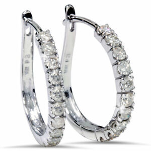 0-80-Cts-Round-Brilliant-Cut-Diamonds-Hoop-Earrings-In-Solid-Certified-18K-Gold