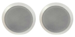 NEW-2-5-25-034-Ceiling-In-wall-Mount-Speakers-Stereo-Contractor-Pair-8-034-Frame