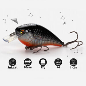 Small Crankbait Floating Fishing Lure Square Bill Artificial Diving Bait Lot