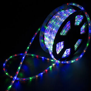 100ft multicolor connectable led rope light inoutdoor xmas party image is loading 100ft multicolor connectable led rope light in outdoor mozeypictures Images