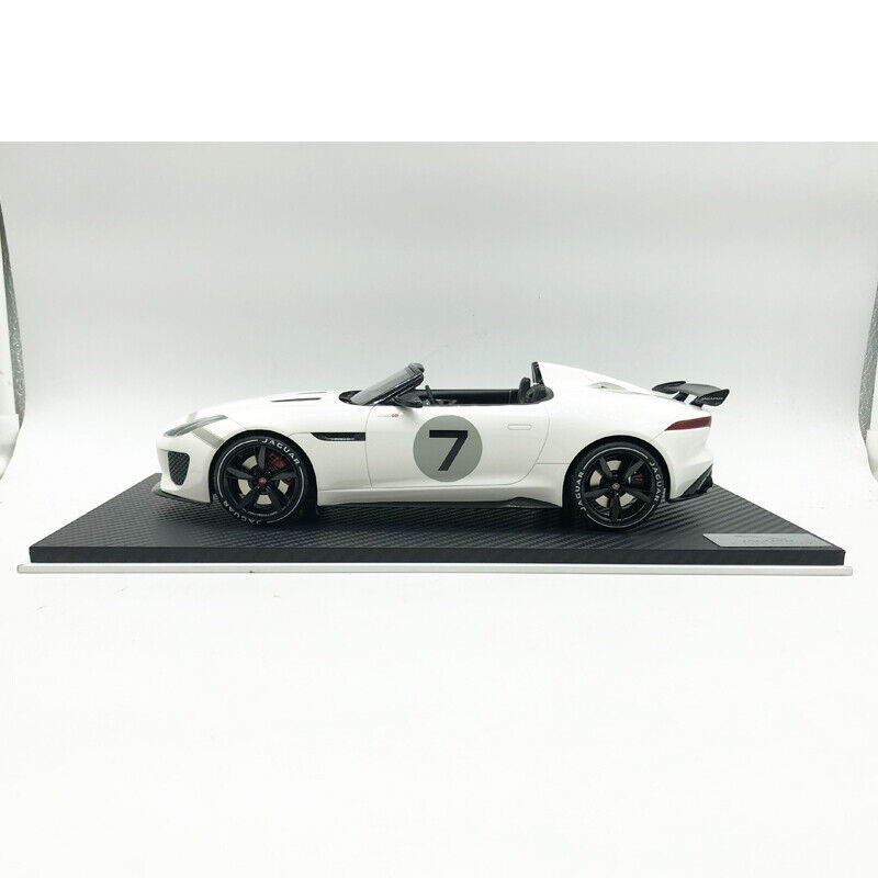 1 18 Scale JAGUAR F-TYPE Project 7 Ecurie  blanc Model voiture Model Resin  remise
