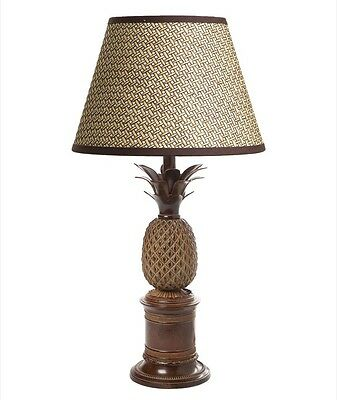 Emac and Lawton Bermuda Pineapple Table Lamp Antiqued Brass No Shade NEW