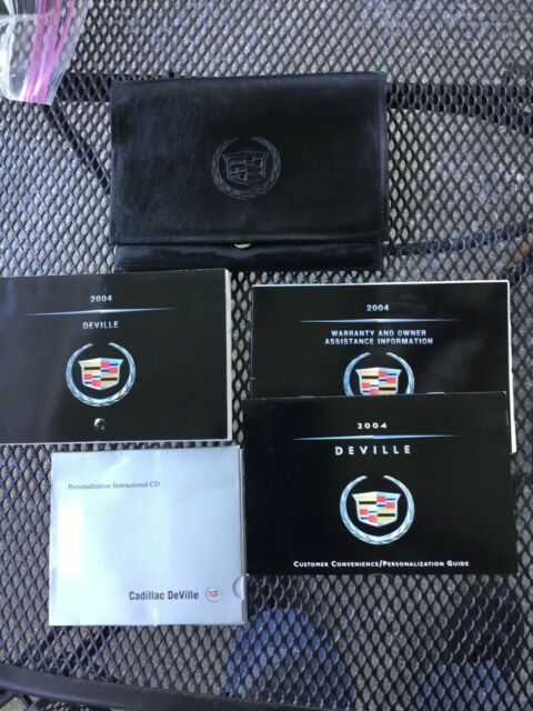 2004 Cadillac Deville Owners Manual Packet   Cadillac Case