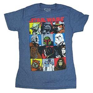 Star-Wars-Comic-Strip-M-2XL-Mens-Blue-Short-Sleeve-Graphic-T-Shirt-New-NWOT
