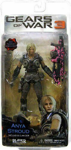 ANYA STROUD Gears of War 3 7  inch Video Game Figure Pink Lancer Variant NEW