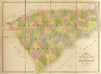 MAP AMERICAN ATLAS BURR 1839 NORTH SOUTH CAROLINA REPLICA POSTER PRINT PAM0517