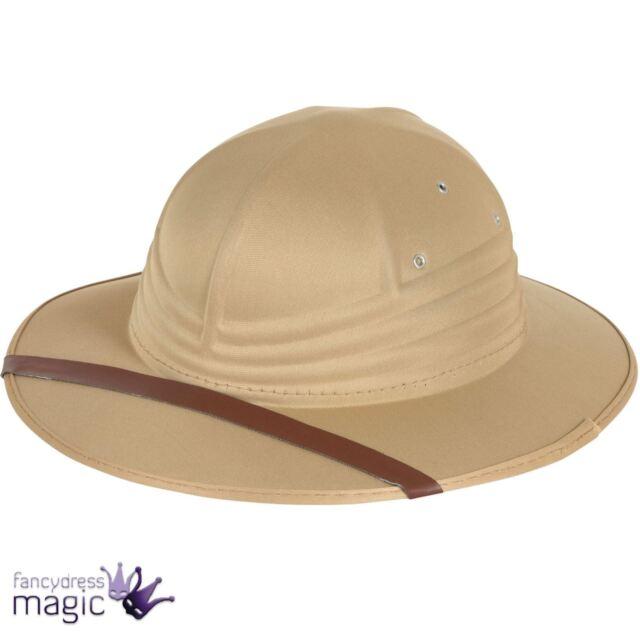 67830a54754b3 Adults Safari Helmet Hat Pith Explorer Zoo Keeper Fancy Dress Costume  Accessory