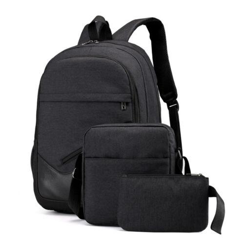 Men Women Girls Backpack Set Travel Shoulder School Bag Canvas Satchel Rucksack