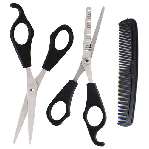 Hair Cutting & Thinning Scissors Shears Hairdressing Set Comb Thinner Styling