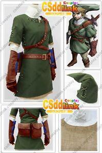 Image is loading legend-of-zelda-twilight-princess-link-cosplay-costume-