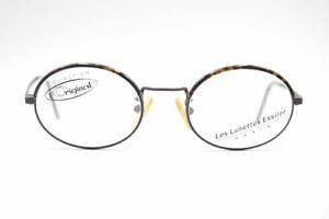 Vintage-Les-Lunettes-Essilor-272-25-47-19-135-Schwarz-Braun-oval-Brille-NOS