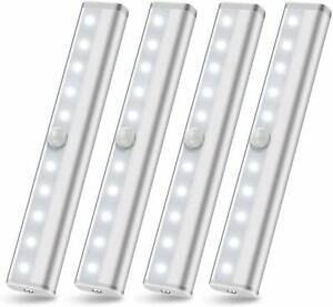 Wireless-Under-Cabinet-Lighting-LED-Motion-Sensor-Battery-Operated-Closet-4pack
