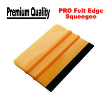 PRO Felt Edge Squeegee For Carbon Fibre / Vinyl Sheet. Car Wrap Applicator Tool