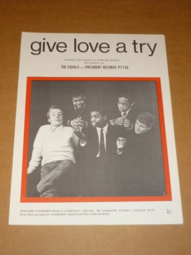 "Equals /""Give Love A Try/"" MINT sheet music"