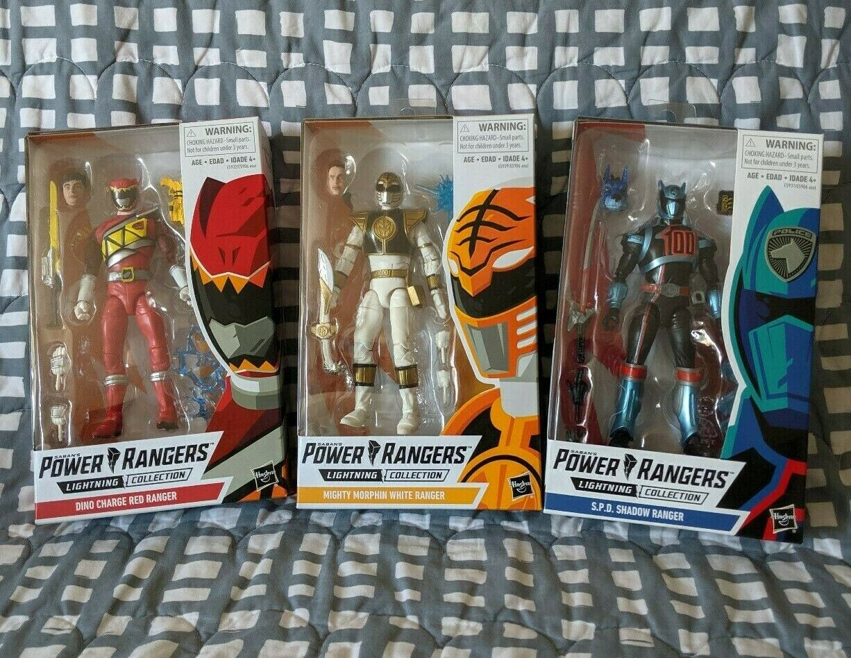 MMPR Power Rangers Lightning Collection SPD Shadow Dino Charge rot Weiß Lot NIB