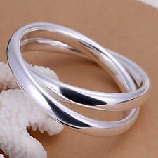 Armreif 925 Sterling Silber bestehen aus 2 Ringen