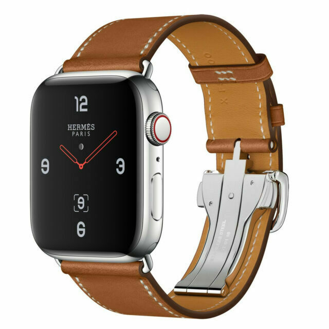 Apple Watch Series 4 Hermes 44 Mm Stainless Steel Case With Fauve Barenia Leather Single Tour Deployment Buckle Gps Cellular Mu6t2ll A For Sale Online Ebay