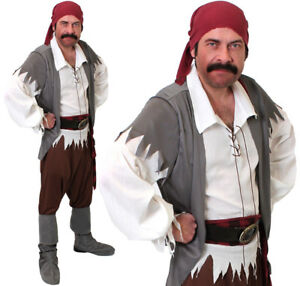 MENS-CARIBBEAN-PIRATE-COSTUME-ADULT-CAPTAIN-FANCY-DRESS-COSTUME-BOOK-OUTFIT
