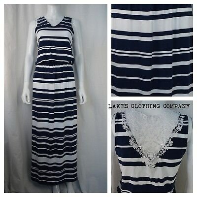 EX CHAIN STORES LADIES COLLECTION STRIPED WINDOW BACK SKATER DRESS SUMMER M/&5 MS