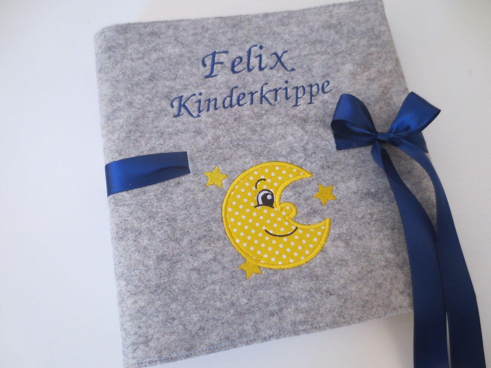 Fotoalbum ca. 24,5 x 25cm Wollfilz Name Babyalbum Album Baby Taufe Geburt Kind   Shop    Hochwertig    Sonderaktionen zum Jahresende