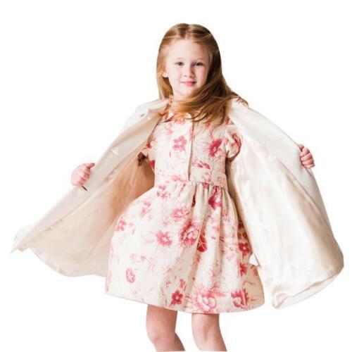 2017 Kids Girls Softshell Jacket Outerwear Children Windbreaker Coat Clothes UK