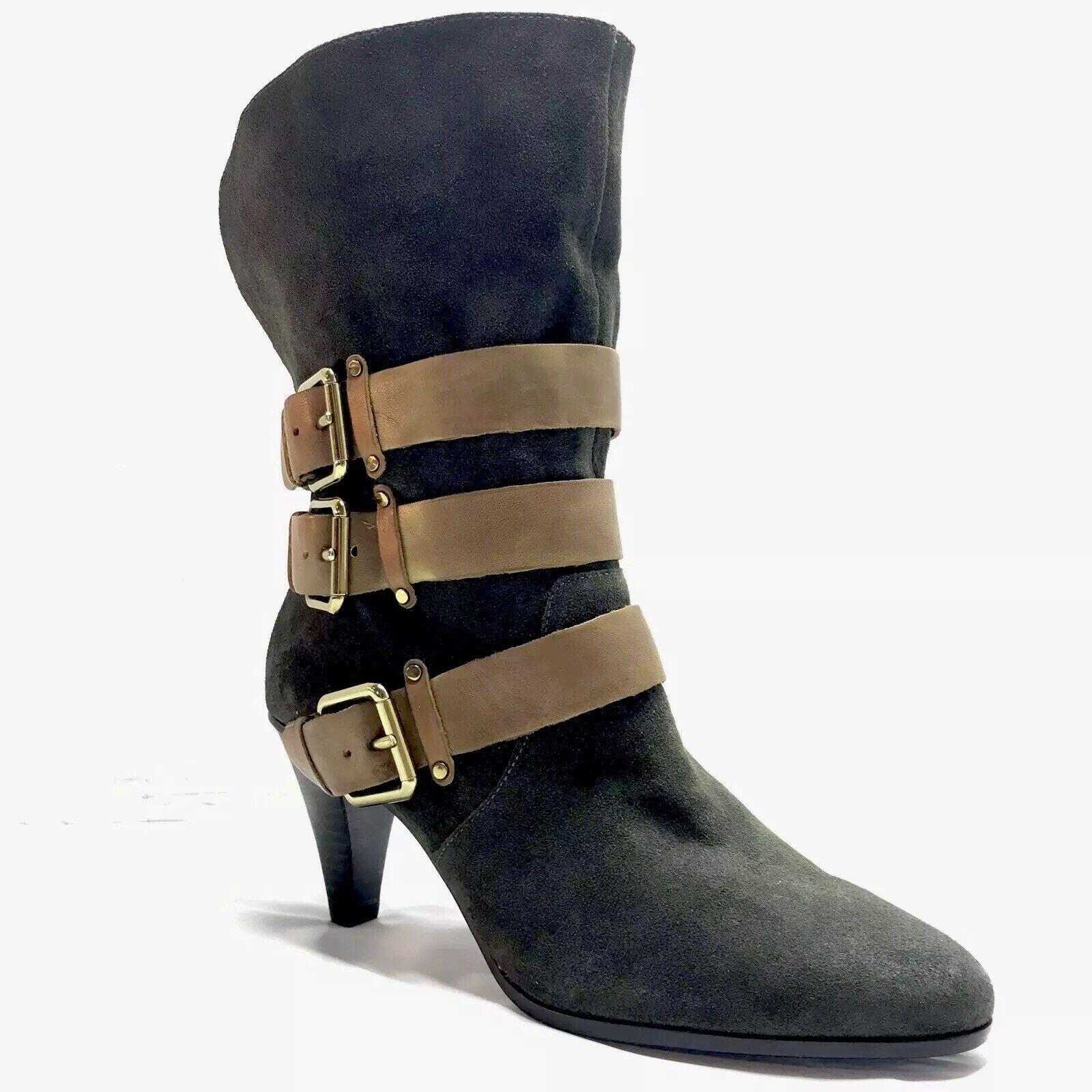 Nuevas botas Hebilla De Gamuza verde Rebecca Minkoff para mujer 9