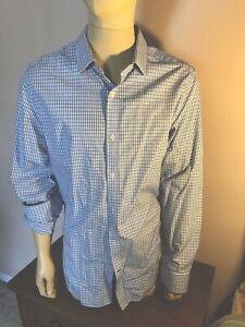 NWT Banana Republic Grant-Fit Non-Iron Blue Dress  Shirt Size S//L