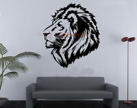 Wall Stickers Black Vinyl Lion's Head Wall Stickers Decal Wall Art Wall Mural
