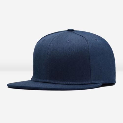 Men Blank Plain Snapback Hats Unisex Hip-Hop Adjustable Bboy Baseball Caps #L