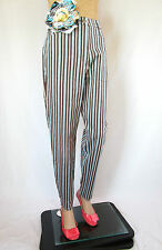 HIRSCH Womens Striped Stretch Casual Multicolour Trousers Pants sz 12 M AQ38