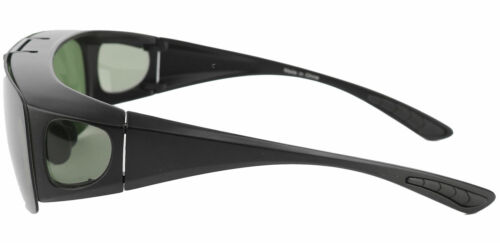 Beison Fit over Flip up Polarized Half Rim Men Wraparound Sunglasses Eyeglasses