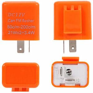 12V-2-Pin-vitesse-reglable-LED-Flasher-relais-a-moto-Clignotants