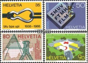 Schweiz-1376-1379-kompl-Ausgabe-postfrisch-1988-Jahresereignisse