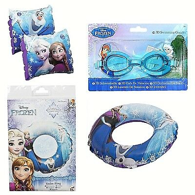 Disney Frozen Inflatable Armbands Swim Rings Goggles Girls