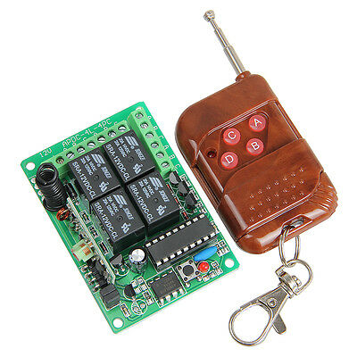4 channel wireless relay remote control switch,4 CH RF Receiver & Transmitter