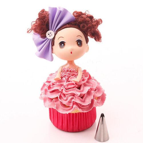 7 pcs//lot  Dolls Dress Korean Bobbi Ruffle Icing Piping Tips Stainless RR