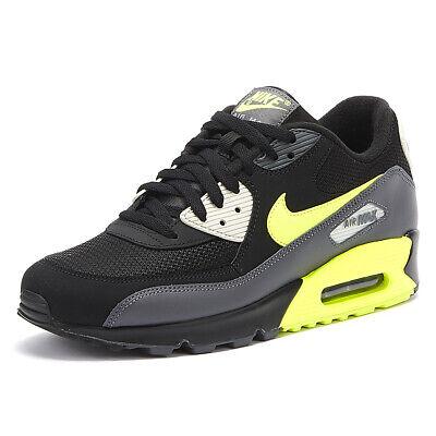 Nike AIR MAX 90 Essential Uomo NeroVolt Scarpe Da Ginnastica Con Lacci Sport Scarpe Casual   eBay