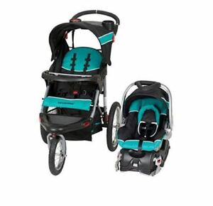 Image Is Loading Baby Trend Expedition Jogger Stroller Travel System Tropic