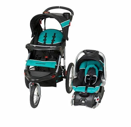 Baby Trend Expedition Jogger Stroller Travel System Tropic Infant Car Seat