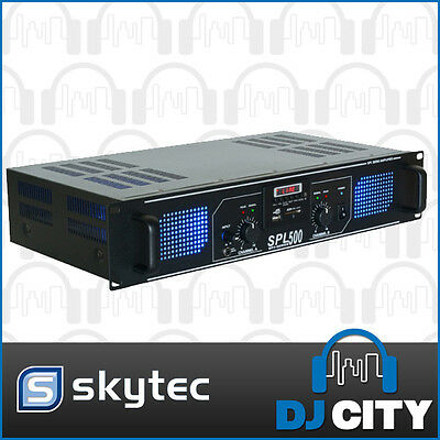 SPL500MP3 Skytec 500Watts Power Amp with MP3 Player PA DJ Band Amplifier