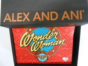 "Authentic Alex and Ani Wonder Woman logo 32/"" Rafaelian Gold NECKLACE"
