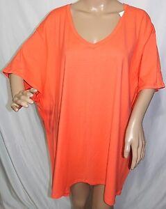JMS Just My Size Women Plus Size 5x 30//32W Basic Classic Orange Tee T Shirt Top