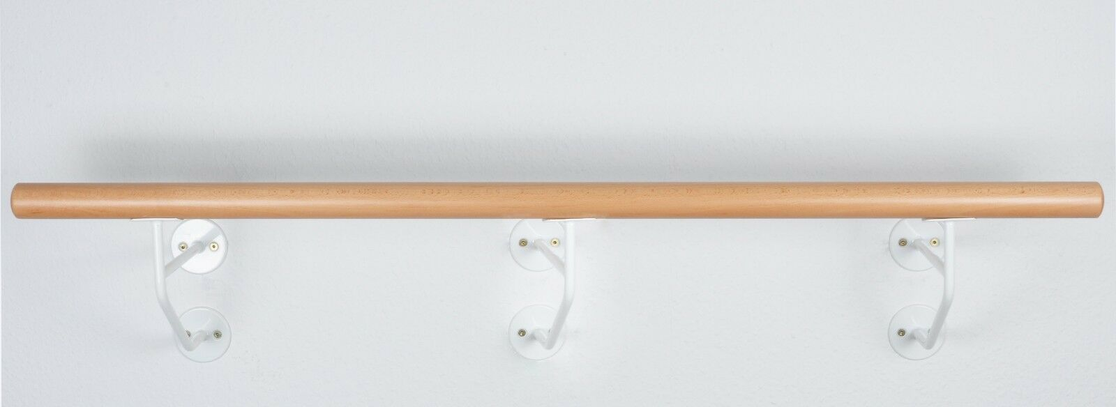 Ballettstange Ballettstange Ballettstange Holz 20cm Wandabstand weiße Wandhalter  EXPERT  21 Längen 1c2985