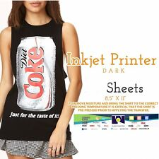 Ink Jet Printable Heat Transfer Paper For Dark Fabrics 50 Sheets Fibras Oscuras