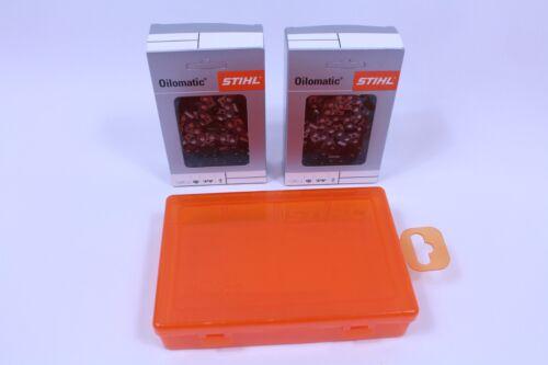"2 x still sierra cadenas 3667 000 0074-rd3 45cm .325/"" 1,6mm 74 TG duro kettenbox"