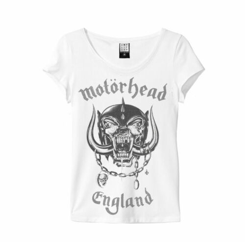 White Amplified Clothing NEW /& OFFICIAL! Motorhead /'England/' Womens T-Shirt