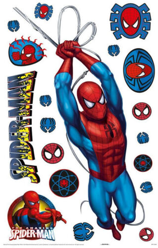Spiderman Bedroom Item Range Bedding Curtains Stickers Lighting /& More