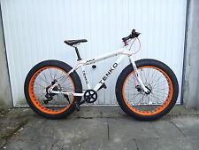 """Fatbike MTB """"Tenko"""" bianco /arancione Freno a disco, 7 velocità 26 Pollici"""