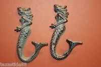 (4) Antique-look Mermaid Bathroom Decor Bronze Style Mermaid Wall Hooks, ,bl-42